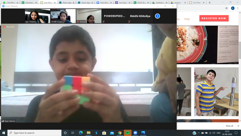 Pop Up Session by Tejas on Rubics Cube