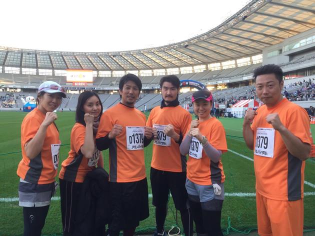 タイフーンクラブ有志による「味スタ6時間耐久リレーマラソンに参加」