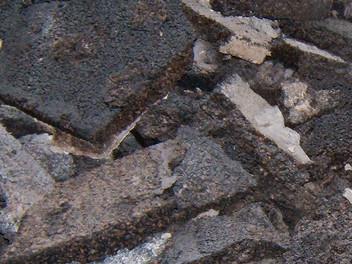 Teerkorkplatten auf dem Dach
