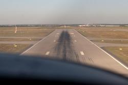 Anflug auf Leipzig/Halle Flughafen