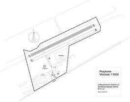 Schema Flugplatzkarte Draufsicht