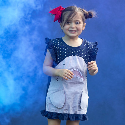 Girl's Shark Dress/Tunic - Holiday Sale 60% Off!