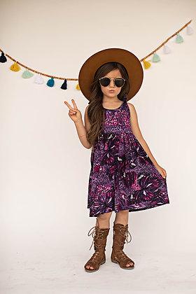 Purple Butterfly Tie Dress