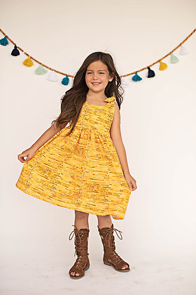 Sunflower Yellow Tie Dress