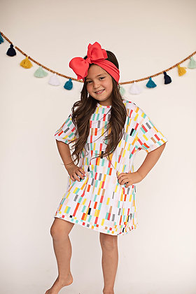 Color Block Oversized T-Shirt Dress