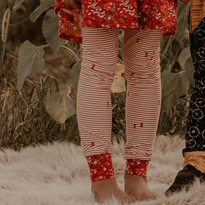 Red Striped Leggings