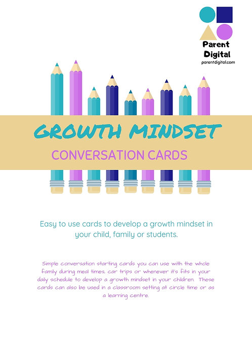 Growth Mindset Conversation Cards
