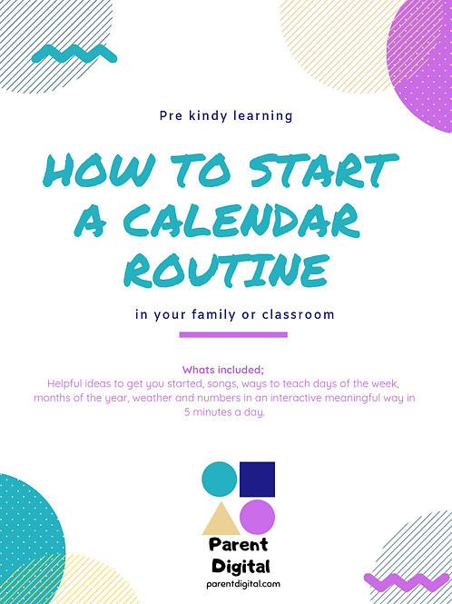 How to start a Calendar Routine