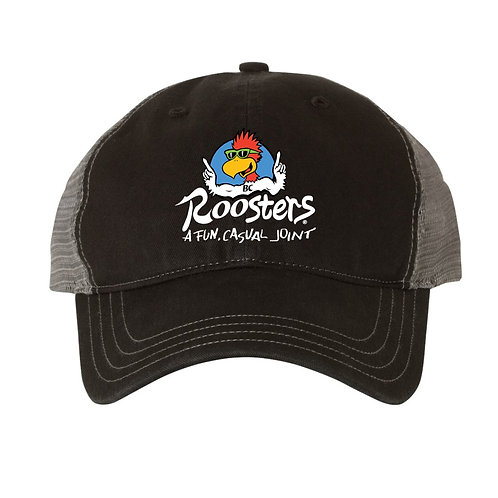 Roosters Garment-Washed Trucker Hat