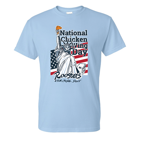 National Chicken Wing Day  50/50 Tee