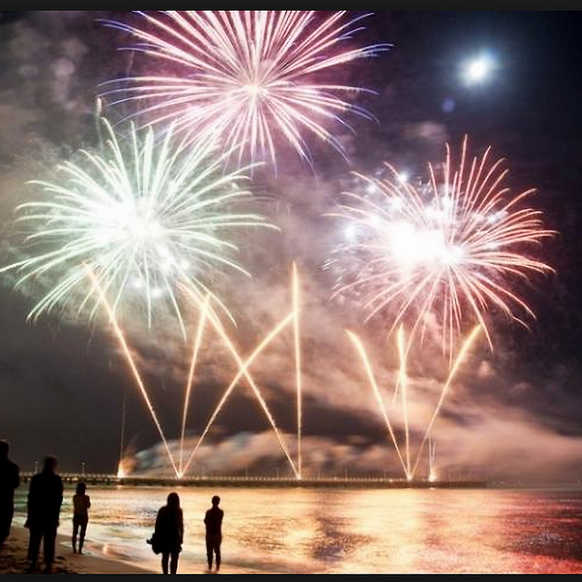 4th of July, Fireworks Flotilla Raft Up - Safety Harbor Bay