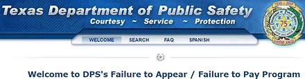 Texas DPS Failure to Appear OmniBase