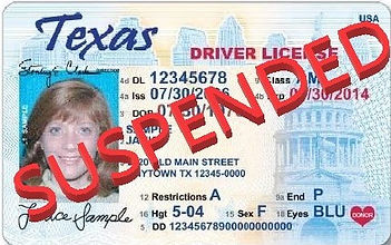 Texas Driver's License suspensions after arrest for DWI