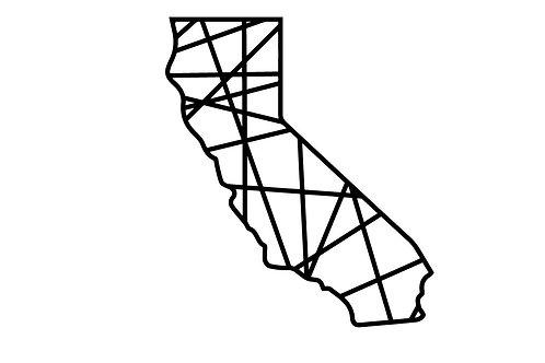 Cali Geo Steel Sign