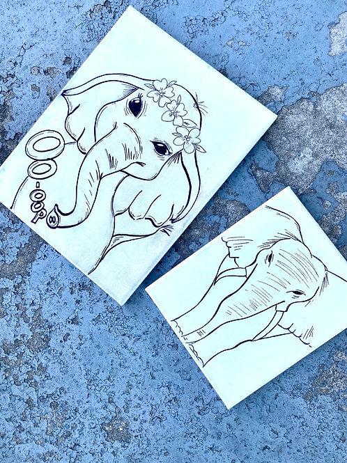 Elephant paint kits