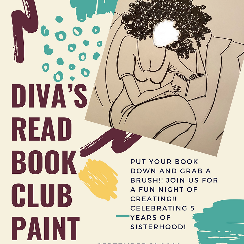 Diva's Read Book Club Paint session