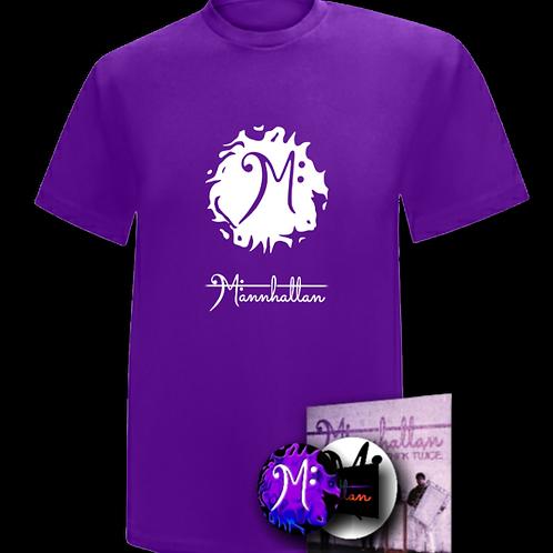 Mannhattan Bundle - Shirt + Album + Stickers + Pin