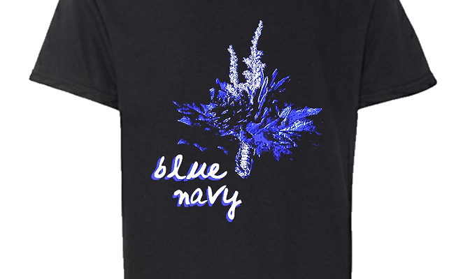 Blue Navy Corsage T-Shirt