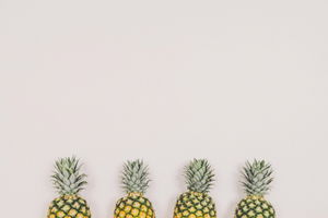 4 pineapples