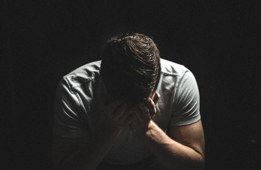man job loss depressed