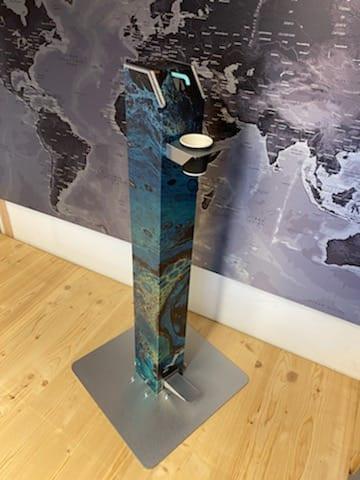 Tour à gel personalisation marbre