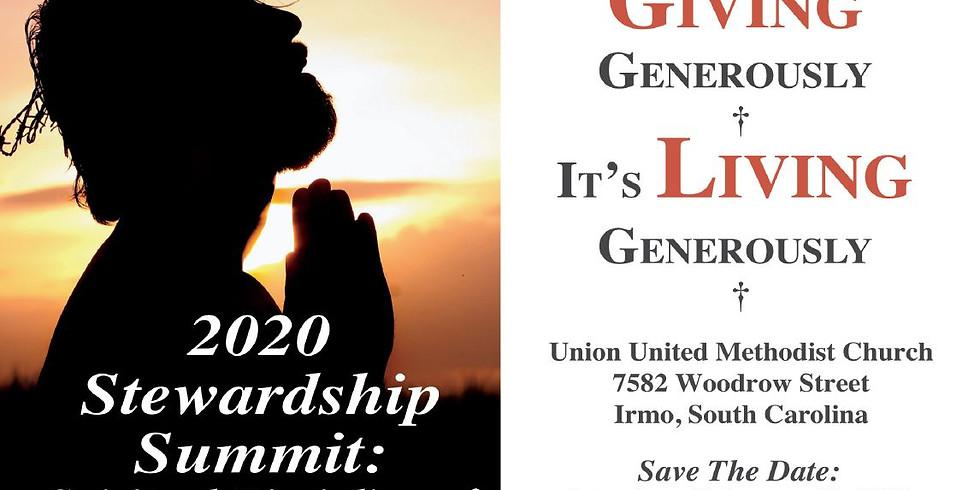 Stewardship Summit 2020- Living Generously