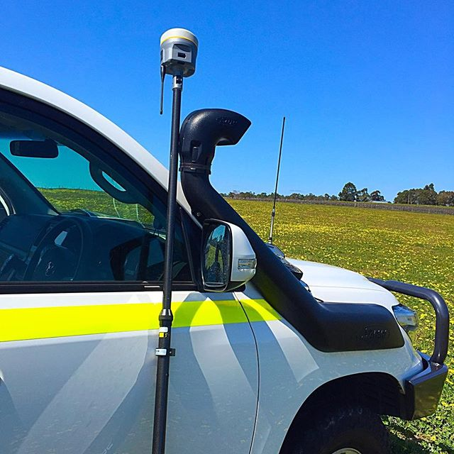 It's all yellow!!! #surveyingaus #surveylife #surveying #survey #trimble #r10 #agriculture #toyota #