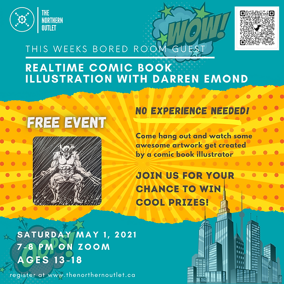 Real-Time Comic Book Illustration with Darren Emond!