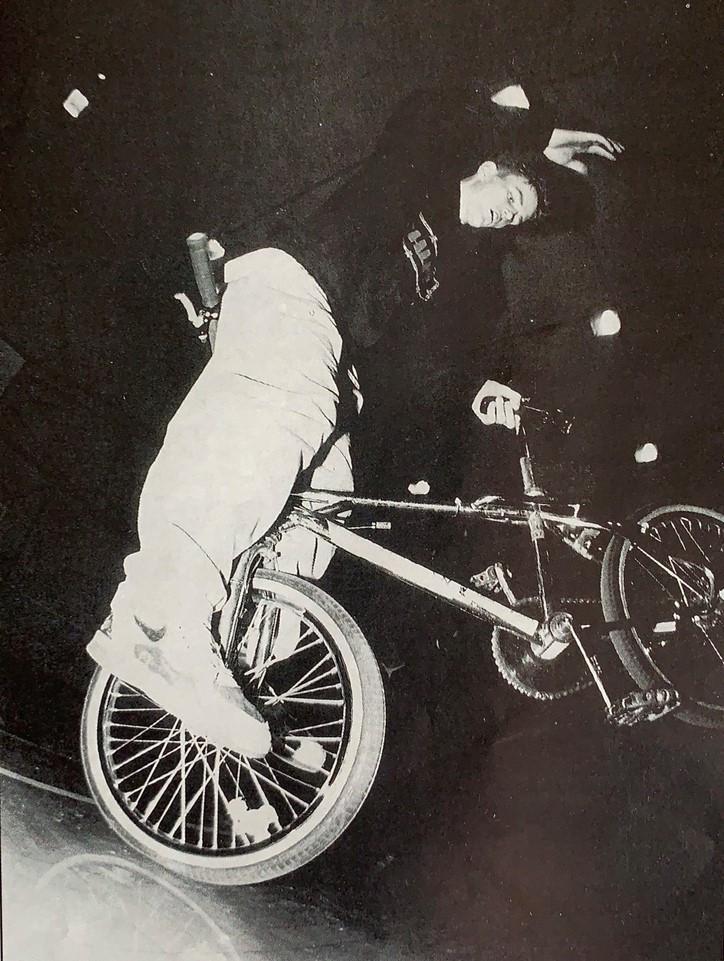 Steff Evans BMXing