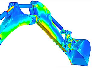 Excavator Modeled in ABAQUS