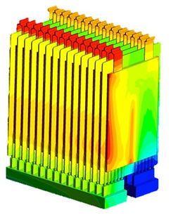 Themal finite element analysis of battery