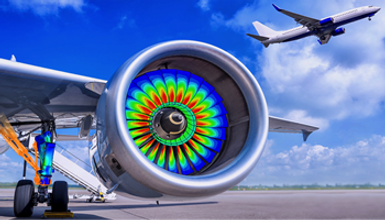 FEA of jet engine fan blades