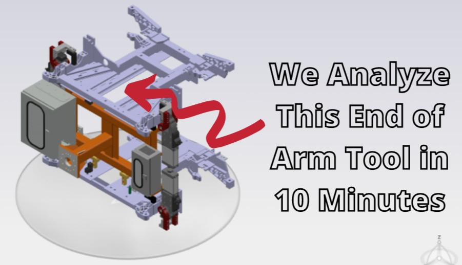 FEA of a robot end of arm tool in the 3DEXPERIENCE