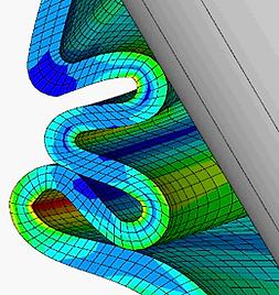 Excessive deformation of materials