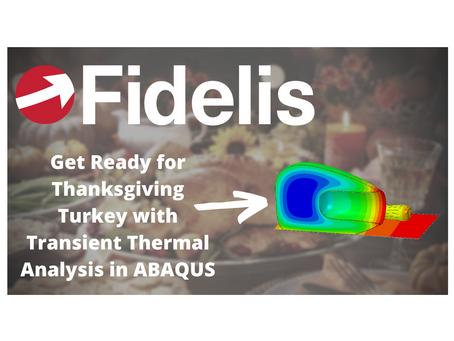 ABAQUS Transient Thermal Analysis Tutorial - Defrosting and Roasting a Turkey - Fidelis Fun Features