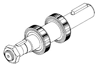 Biro Lower Shaft & Bearing Assembly