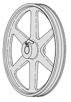 Hobart Lower Wheel