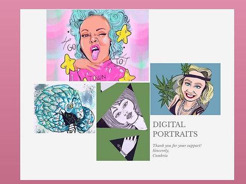 Digital Portrait 5x7 Print