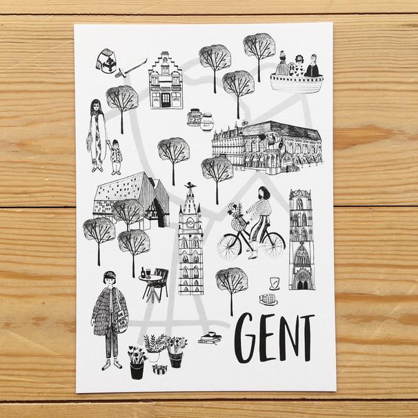 Stadsplan Gent