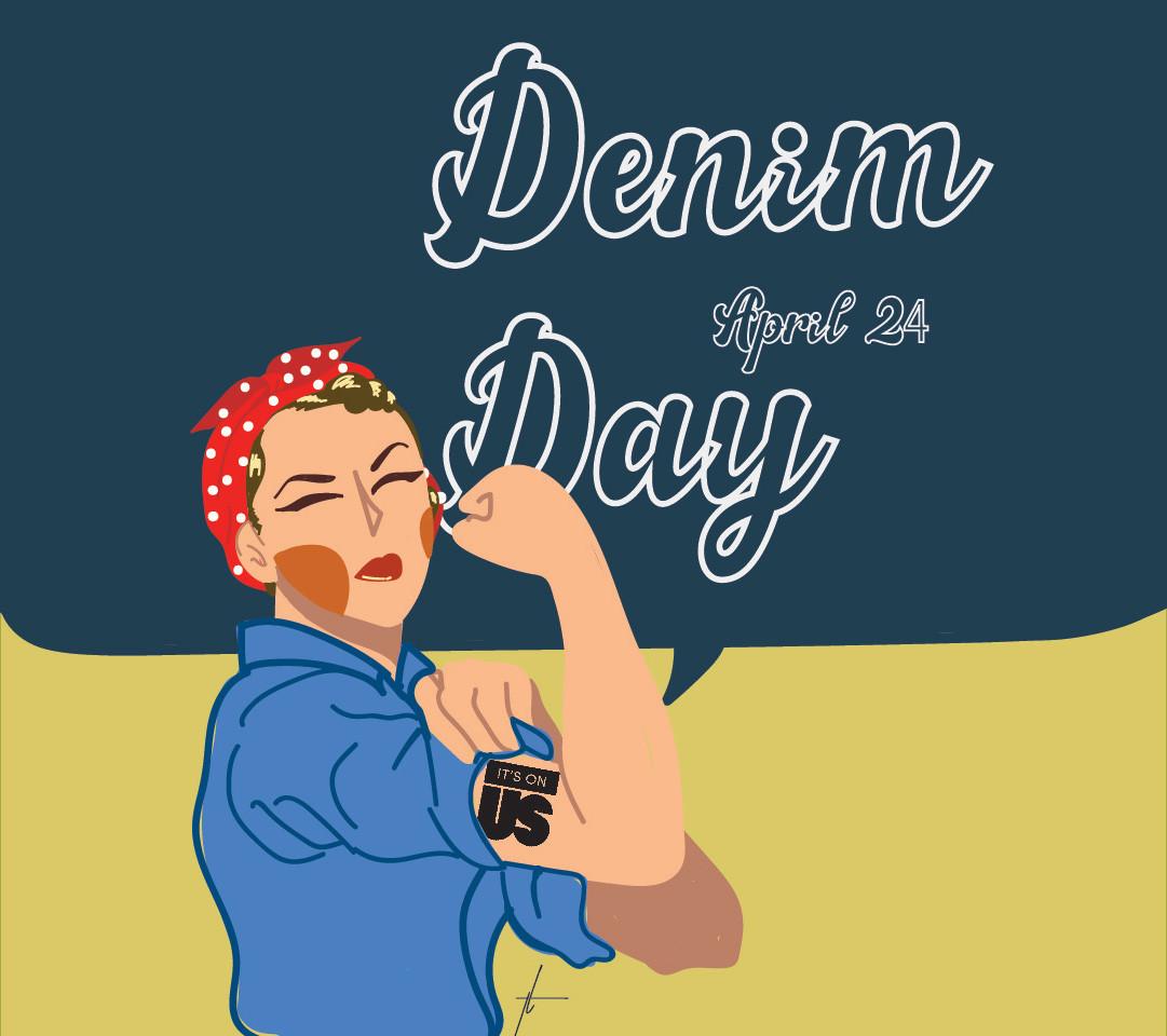 Denim Day Graphic by Thecla Li // CHIMES Newspaper