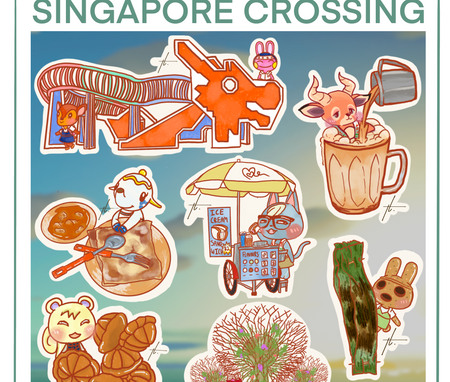 Singapore Crossing Sticker Set