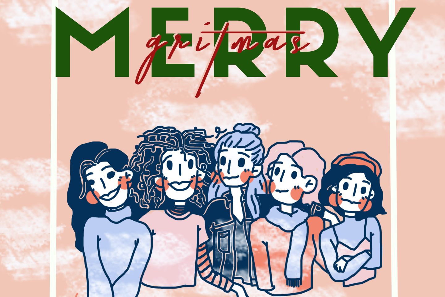 Merry Gritmas Illustration by Thecla Li