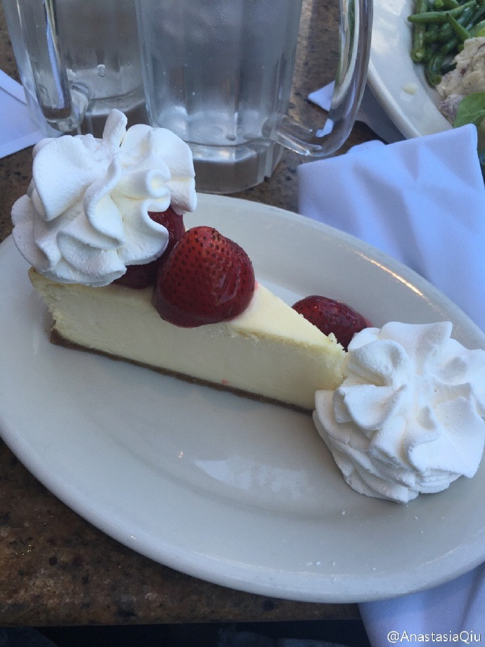 The fabulous cheesecakes in The Cheesecake Factory, SF