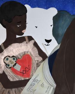 A girl and a bearIII