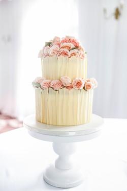3- White Chocolate Panelled Cake