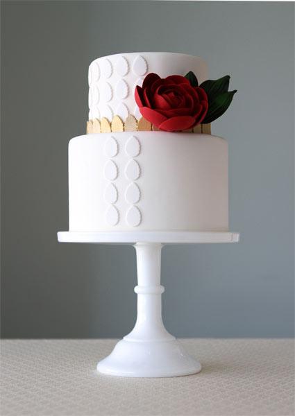 1- Single rose cake