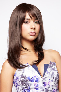 Sarah Long Synthetic Hair Wig