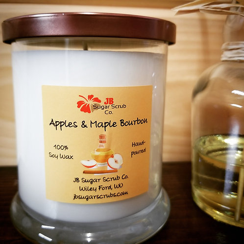 Apples & Maple Bourbon Soy Wax Candle