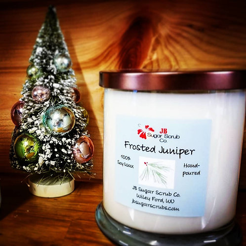 Frosted Juniper Soy Wax Candle