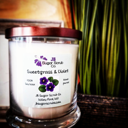 Sweetgrass & Violet Soy Wax Candle